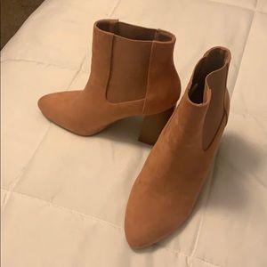 Orange booties